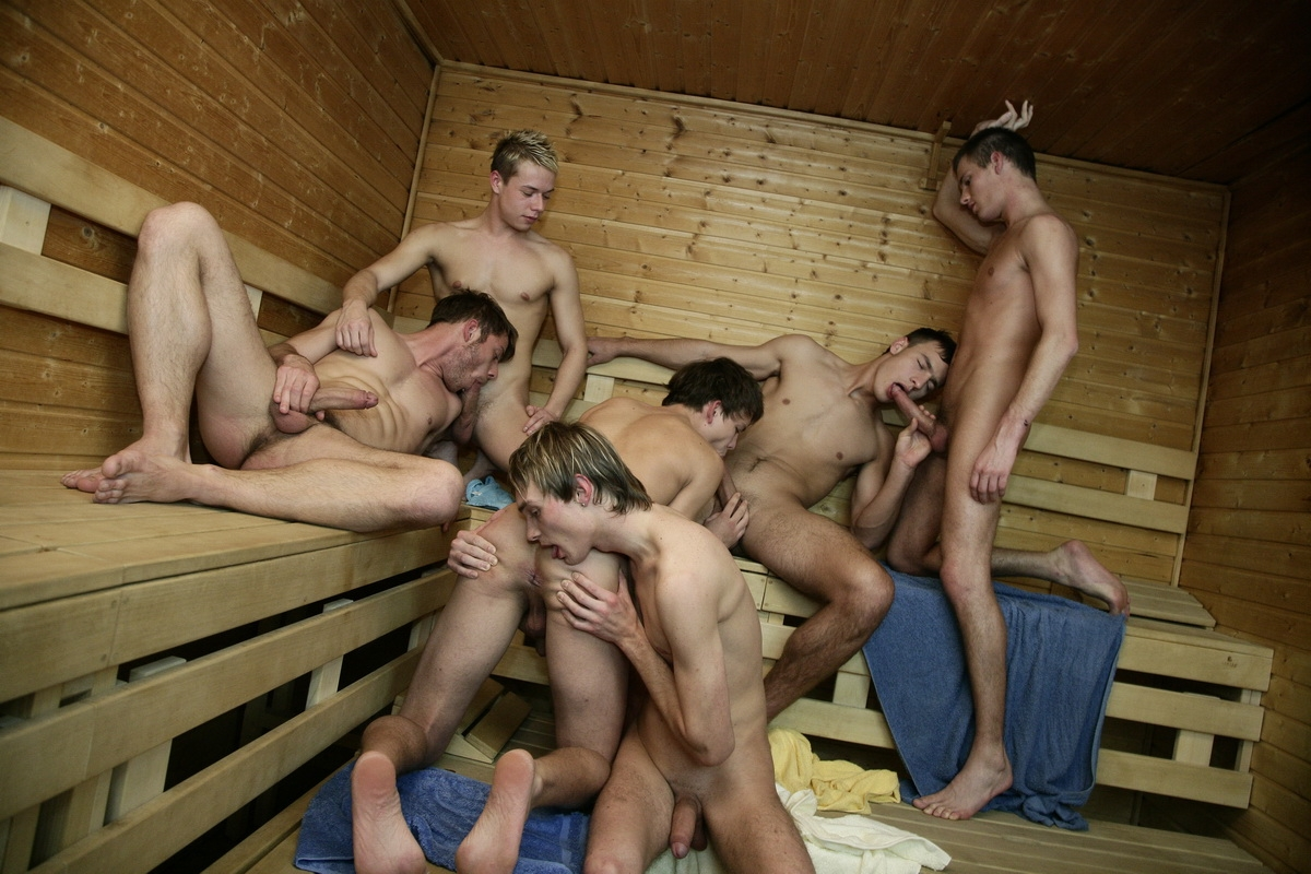 Sauna Room Cock-Sucking Orgy Featuring Thomas Dyk-8499
