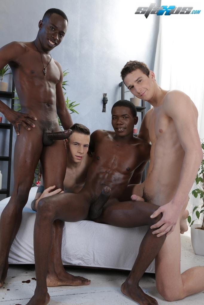 Hot interracial guys ass penetration